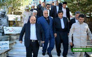 اختصاصی/ گزارش تصویری از سفر وزیر تعاون، کار و رفاه اجتماعی به کرمانشاه