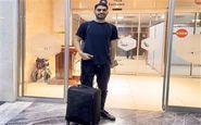 علی کریمی منتظر پرواز به قطر