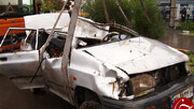 گودالی که در قم دو خودرو را بلعید و جان 3 نفر را گرفت