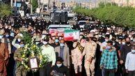 پیکر مطهر شهید اصغر سالارپور در گلزار شهدای رودان آرام گرفت