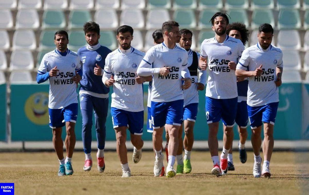 گزارش تمرین روز شنبه تیم فوتبال استقلال