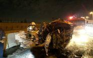 تصادف مرگبار چند خودرو در نوشهر