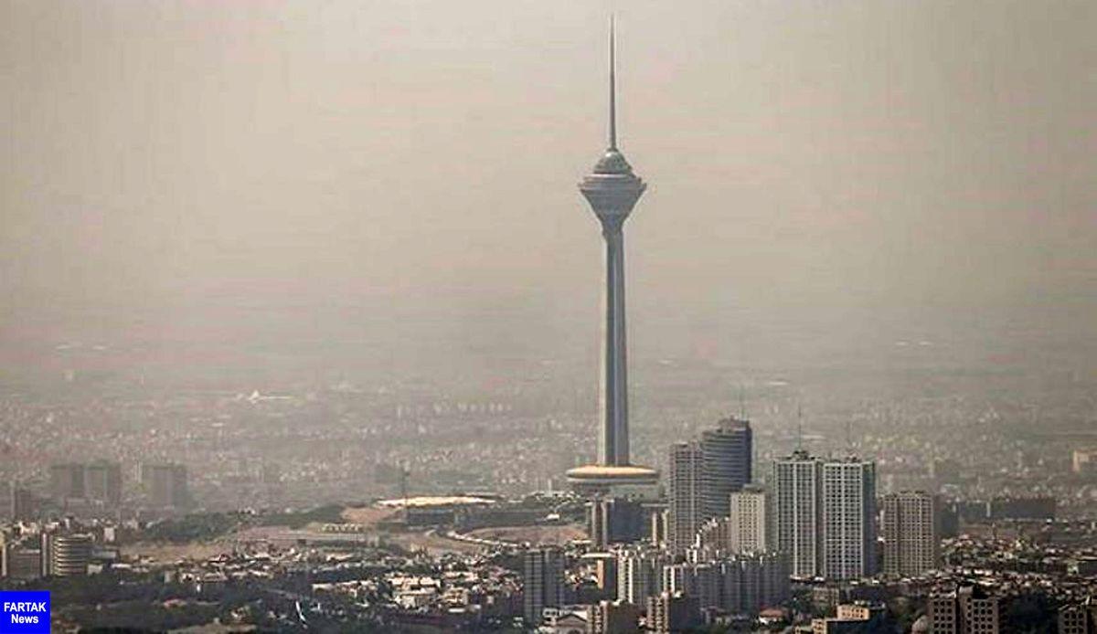کیفیت هوای تهران برای گروههای حساس ناسالم شد