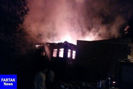 شامگاه یکشنبه  آتش سوزی منزل مسکونی در بندرگز
