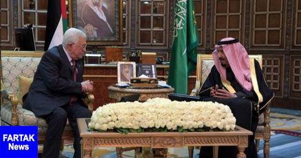 دیدار محمود عباس با پادشاه عربستان