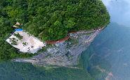 ساخت پلهای عابر در شیبهای خطرناک کوه توسط کارگران شجاع + فیلم