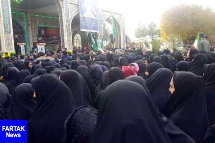 آیین چهلم شهید خردسال حمله تروریستی اهواز در اصفهان برگزار شد