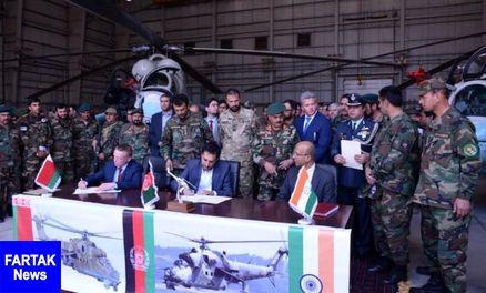هند دو بالگرد جنگی به افغانستان هدیه کرد