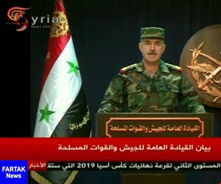 ارتش سوریه: بیشتر موشکهای دشمن متجاوز رهگیری شد