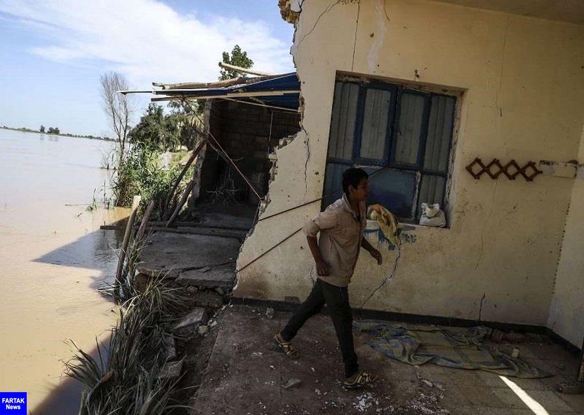 مکان های سیل زده خوزستان بامشارکت بین المللی بازسازی می شوند