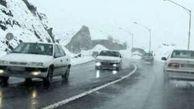 باران و برف در محورهای مواصلاتی ۱۱ استان