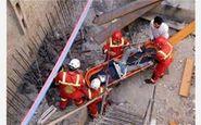 زنده ماندن کارگر بعد از سقوط از ارتفاع ۲۰ متری
