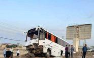 10قربانی براثر تصادف اتوبوس با گاردریل در فارس