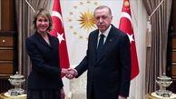 دیدار اردوغان با دیپلماتهای اروپایی و آمریکایی