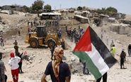 پرس تی وی تخریب روستای خان الاحمر را تصویر می کند