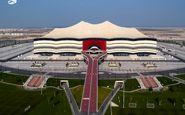 اقدام جالب قطریها؛ ورزشگاه افتتاحیه جام جهانی 2022 به تصاویر کارگران مزین شد+عکس