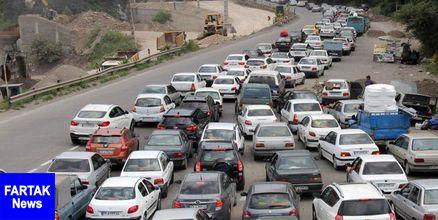 ترافیک جاده کرج - چالوس سنگین است