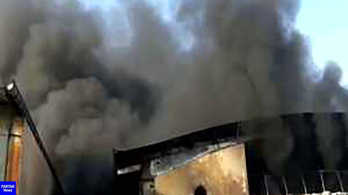 آتش سوزی بزرگ در کارخانه فوم سازی پردیس