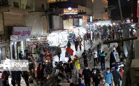 شلوغی بازار بندرعباس در روزهای کرونایی