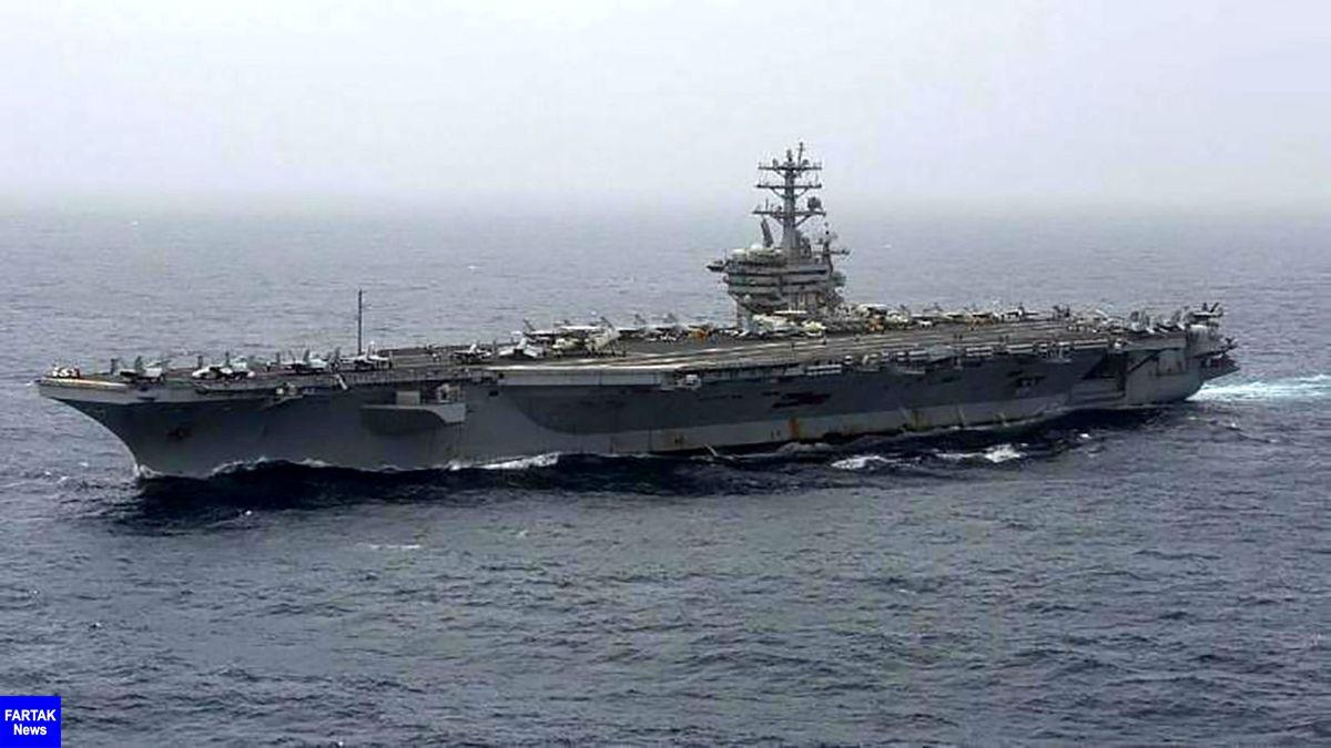 ناو هواپیمابر آمریکایی وارد خلیج فارس شد