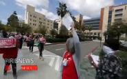 فیلم/ اعتراض پرستاران آمریکایی به خاطر ماسک!