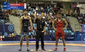 برد عبدولی در نیمه نهایی کشتی وزن 71 مقابل آذربایجان + فیلم