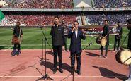 حاشیه شهرآورد 90 | مراسم عزاداری حسینی پیش از آغاز بازی در آزادی +فیلم
