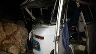 واژگونی مینیبوس در بیارجمند شاهرود/ ۷ نفر مجروح شدند