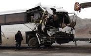 له شدن اتوبوس پس از تصادف با کامیون در آزادراه تبریز - زنجان+فیلم