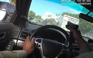 تیراندازی و تعقیب و گریز هولناک پلیس + فیلم
