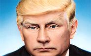 طعنه هفته نامه تایم به پوتین و ترامپ با تلفیق چهره دو رئیس جمهور+فیلم