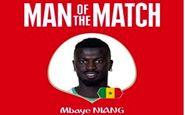 نیانگ،بهترین بازیکن دیدار سنگال برابر لهستان