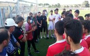رسول خطیبی در تمرین تیم امید تراکتور: نگاه ویژهای به تیمهای پایه دارم