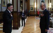 دیدار رئیس دولت وفاق ملی لیبی با اردوغان در آنکارا