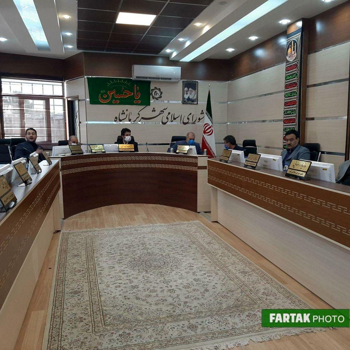 برگزاری نخستین جلسه شورای شهر کرمانشاه بعد از انتخاب هیئت رییسه به صورت غیر رسمی