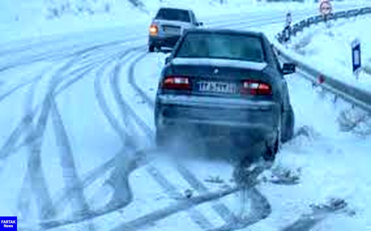 برف و باران در جادههای چند استان