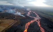 تصاویری زیبا از گدازههای آتشفشانی در هاوایی+فیلم